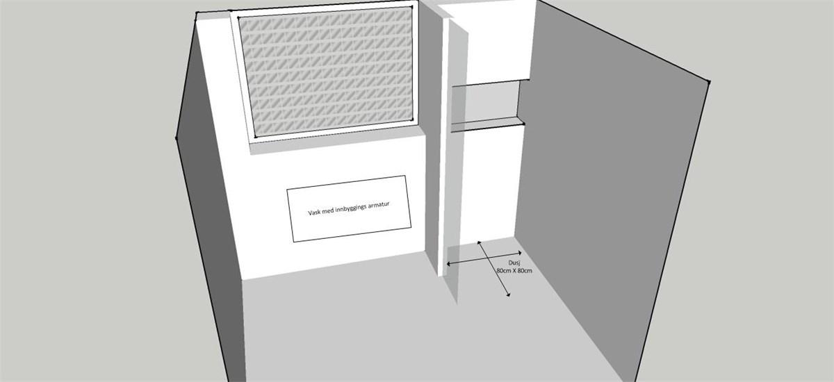Oppbygging av vegger (innredning) på bad med våtromsplater ...
