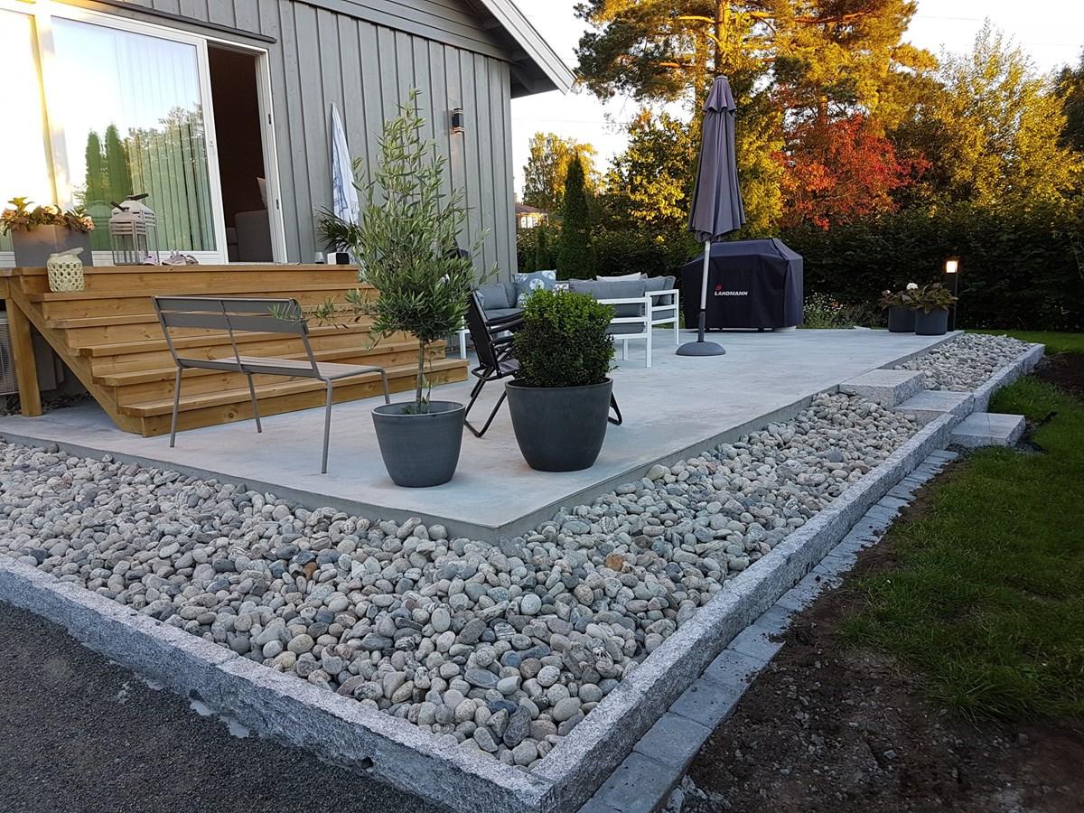 St pe betong platting til terrasse byggebolig - Exemple de terrasse ...