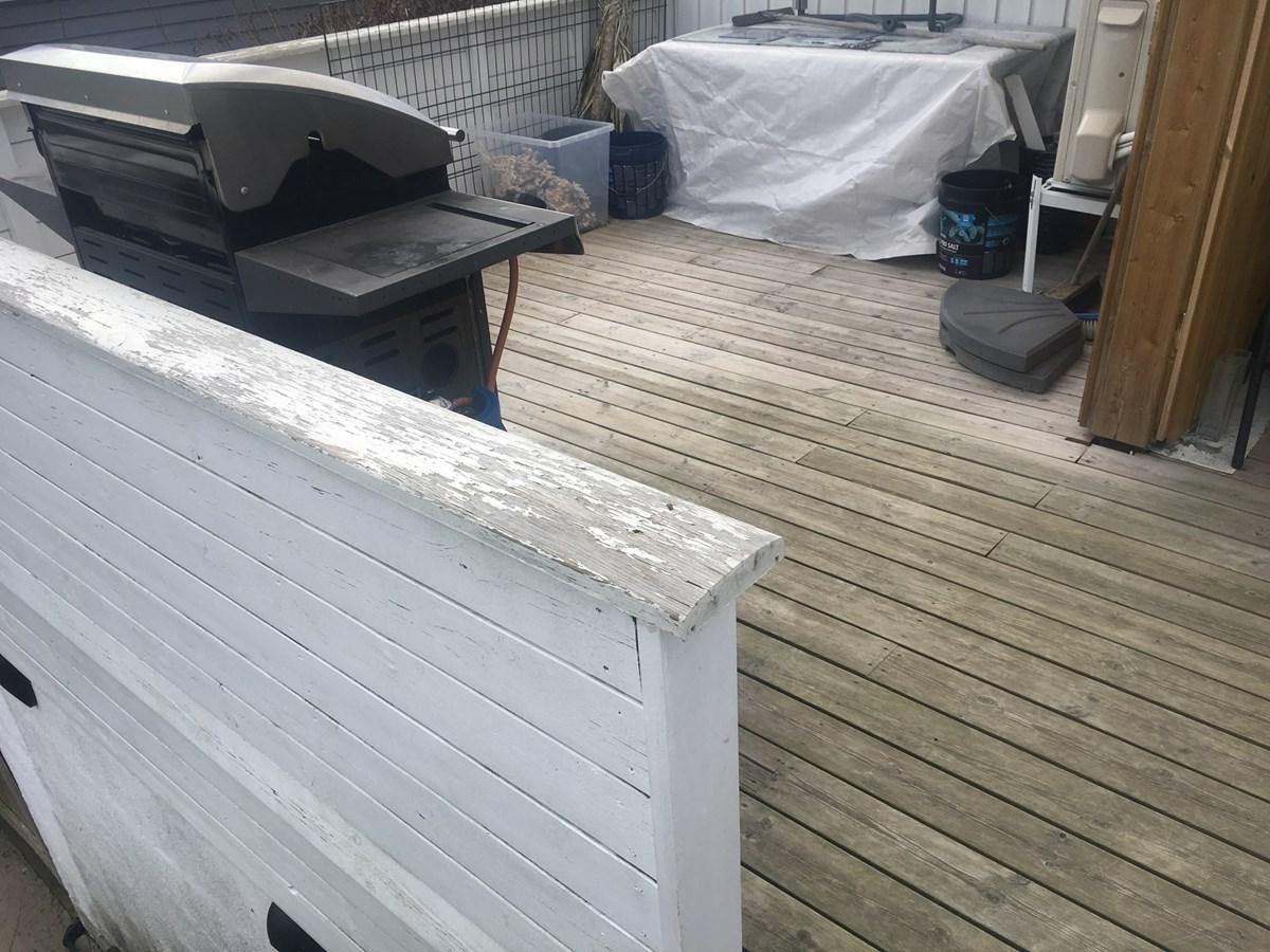 tett tak under veranda