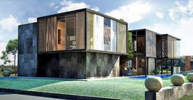 Arkitektur tradisjonelt utseende eller moderne byggebolig for Arkitekt design home