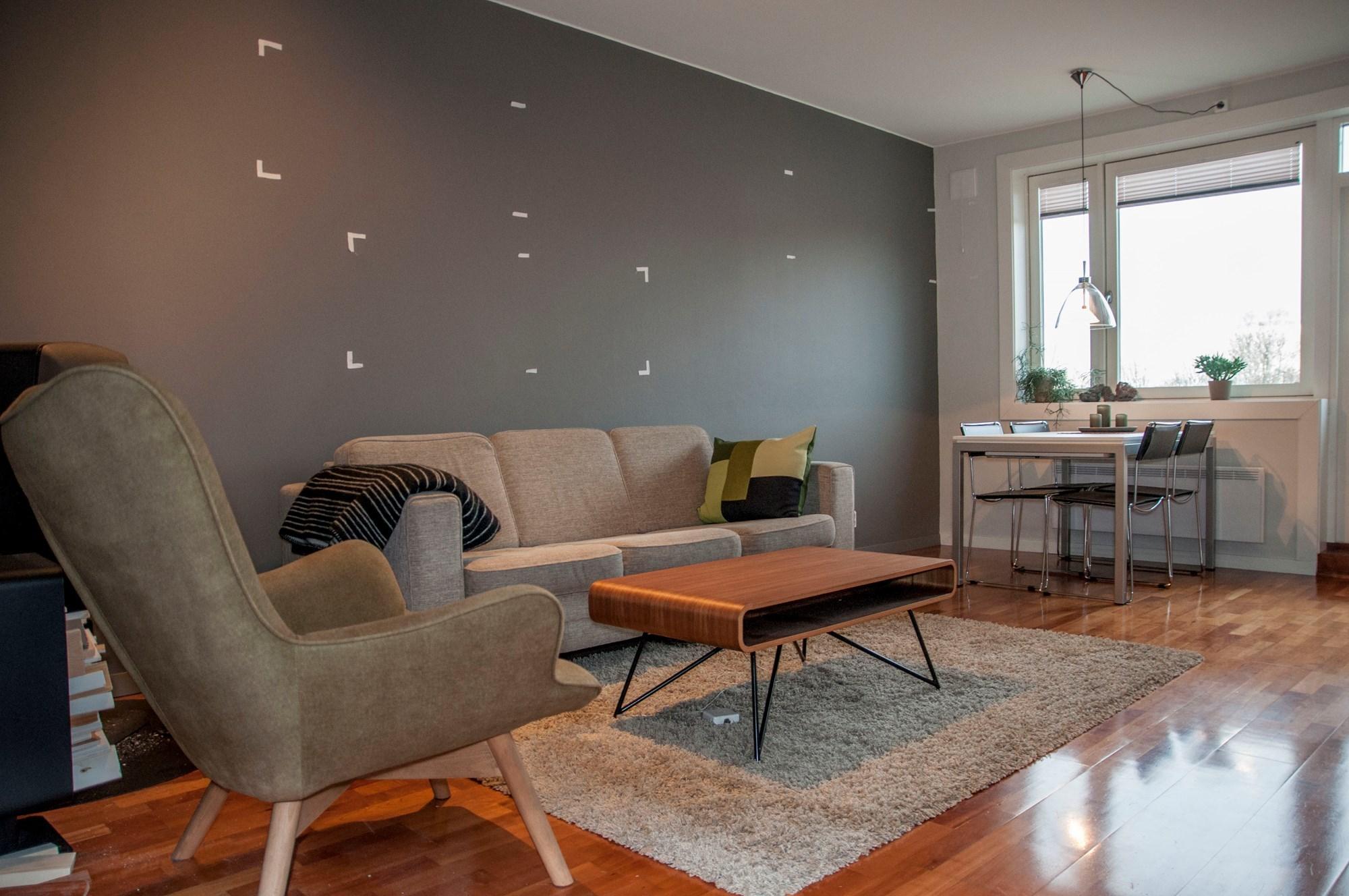 Design av hylle i stue - ByggeBolig