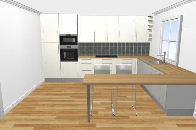 Hva synes dere om denne kjøkkenløsningen?   byggebolig.no
