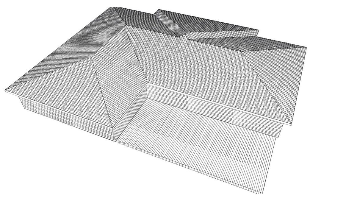 Ettplans hus, første utkast.   byggebolig