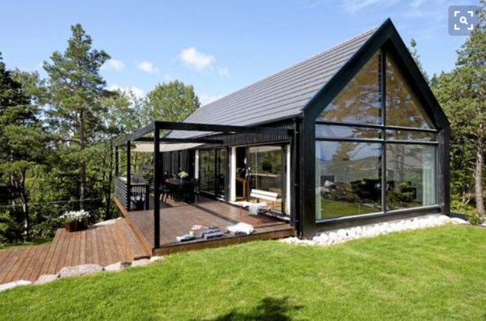 Moderne enebolig med saltak og h layout byggebolig - Swedish style house plans scandinavian ideas ...