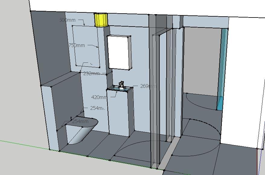Ror i ror til toalett og kjokken, og provisorisk losning til bad ByggeBolig