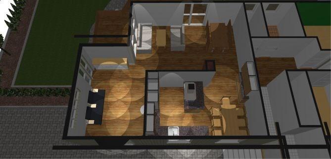 Belysning stue og kj?kken - ByggeBolig