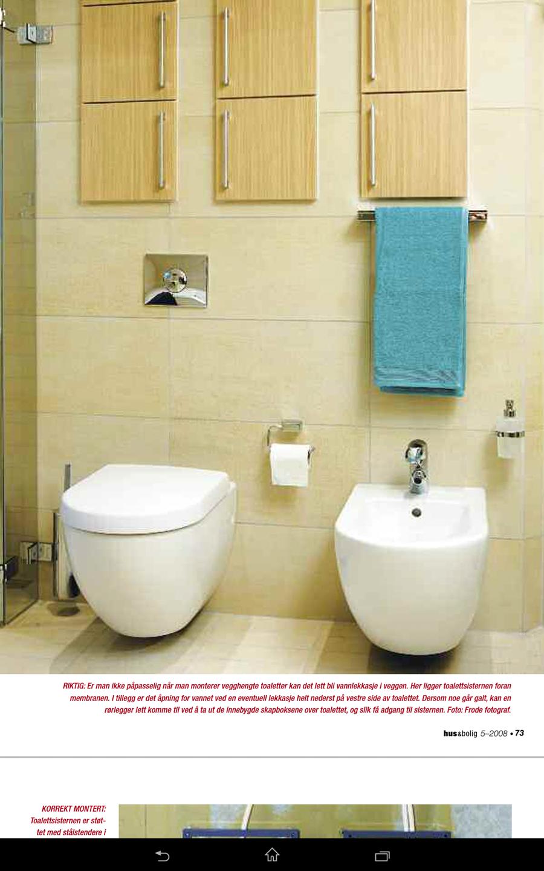 Hva kreves når man skal montere vegghengt toalett? ByggeBolig