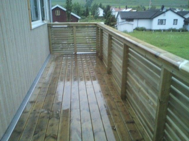 Bygge rekkverk til veranda med liggene lekter? - ByggeBolig.no