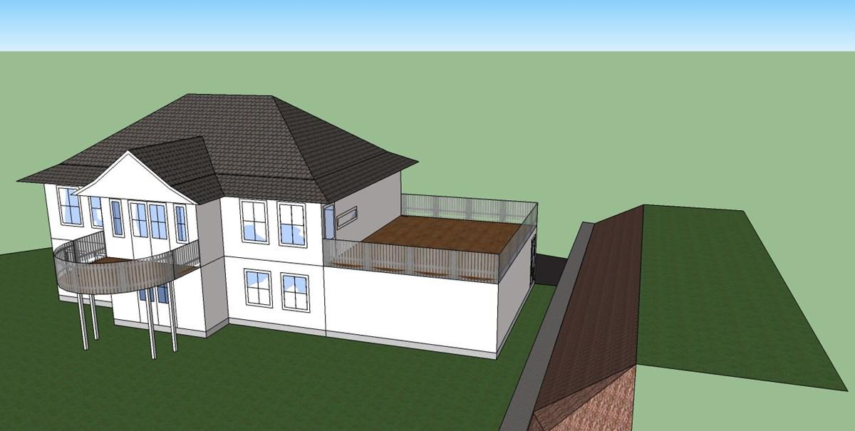 garasje med terrasse pa taket