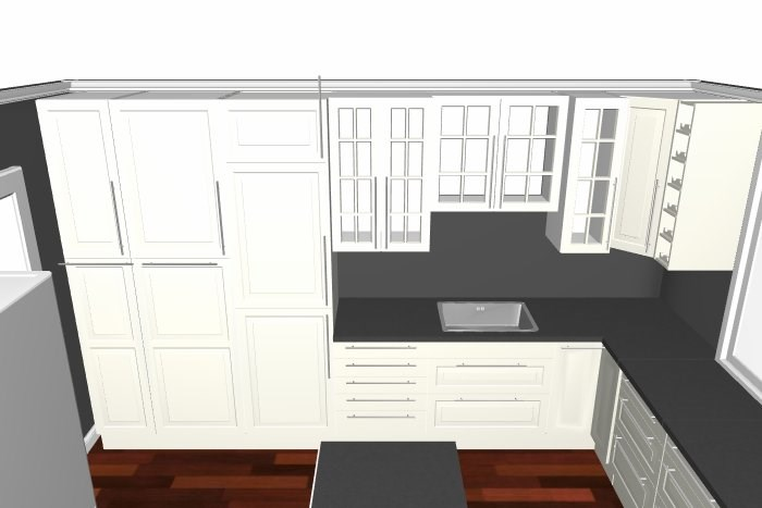 Planlegger nytt kjøkken   flere tegninger   byggebolig.no