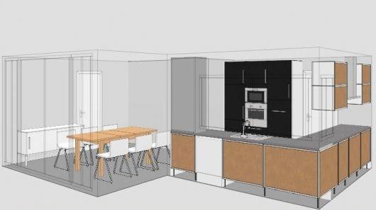 Ikea kjøkken med abstrakt hvit og nexus brunsort kjøkkenfronter ...