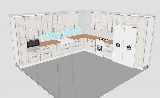 Hjelp til planlegging av IKEA kj?kken - ByggeBolig