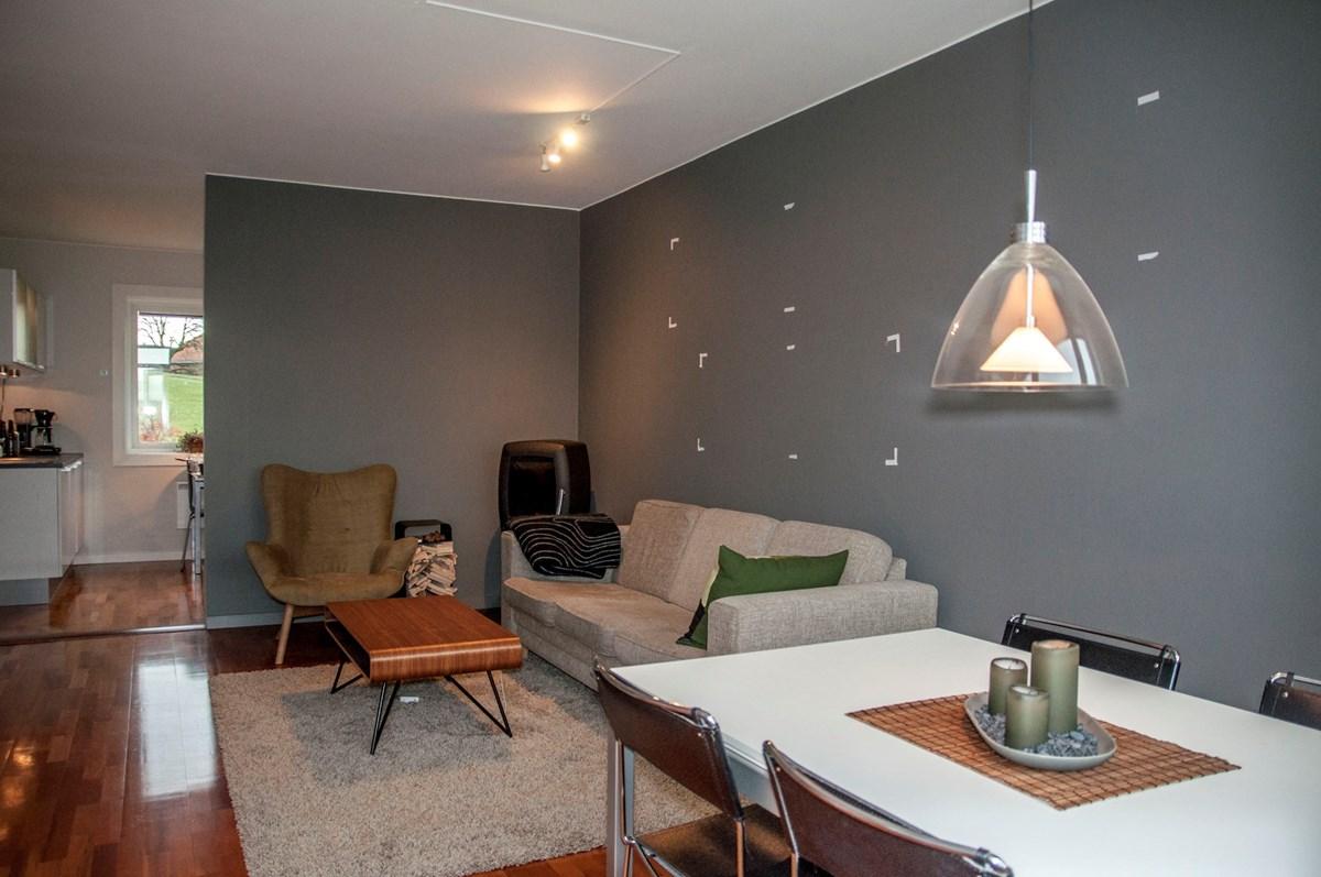 Design av hylle i stue   byggebolig