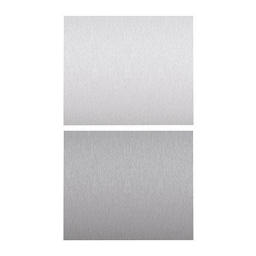 Fastbo veggplater fra Ikea i rustfritt stålfarge - ByggeBolig