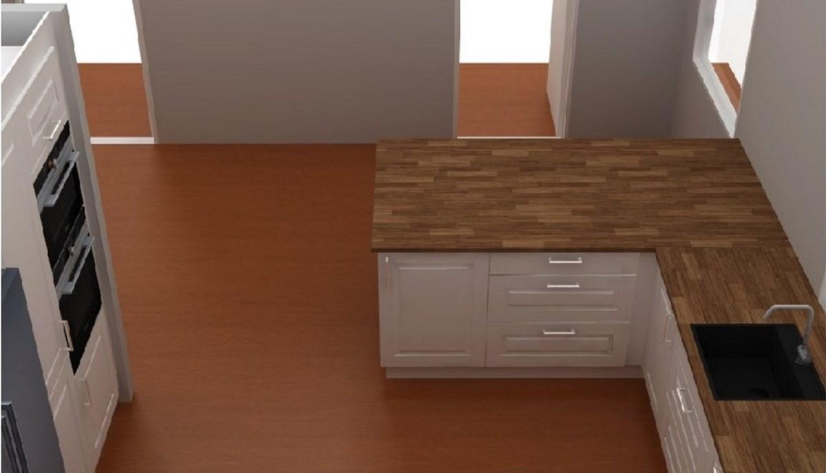 Stilforvirret kjøkken med halvøy - ByggeBolig