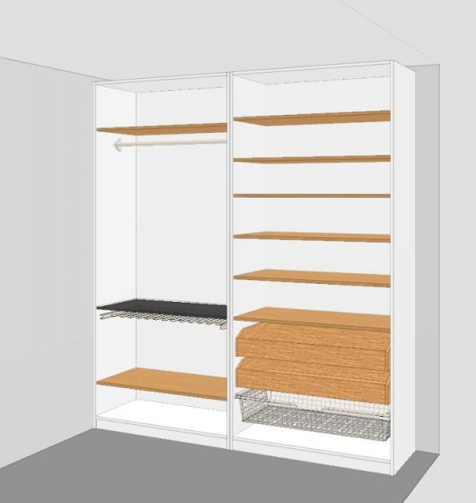 Ikea pax garderobel sning 2m noen innspill byggebolig for Garderobe 2m