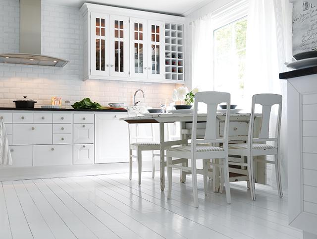Legge kj kkenfliser i forband byggebolig - Suelos de cocina modernos ...