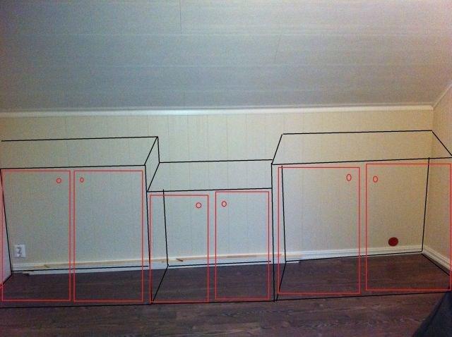 Ideer til garderobe på rom med lave knevegger   byggebolig.no