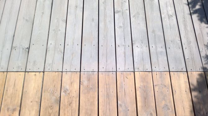 Shimmergrå terrasse