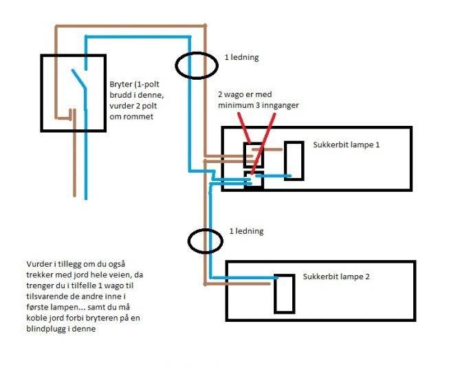 Hvordan får jeg to lamper på samme ledning? - side 6 - ByggeBolig