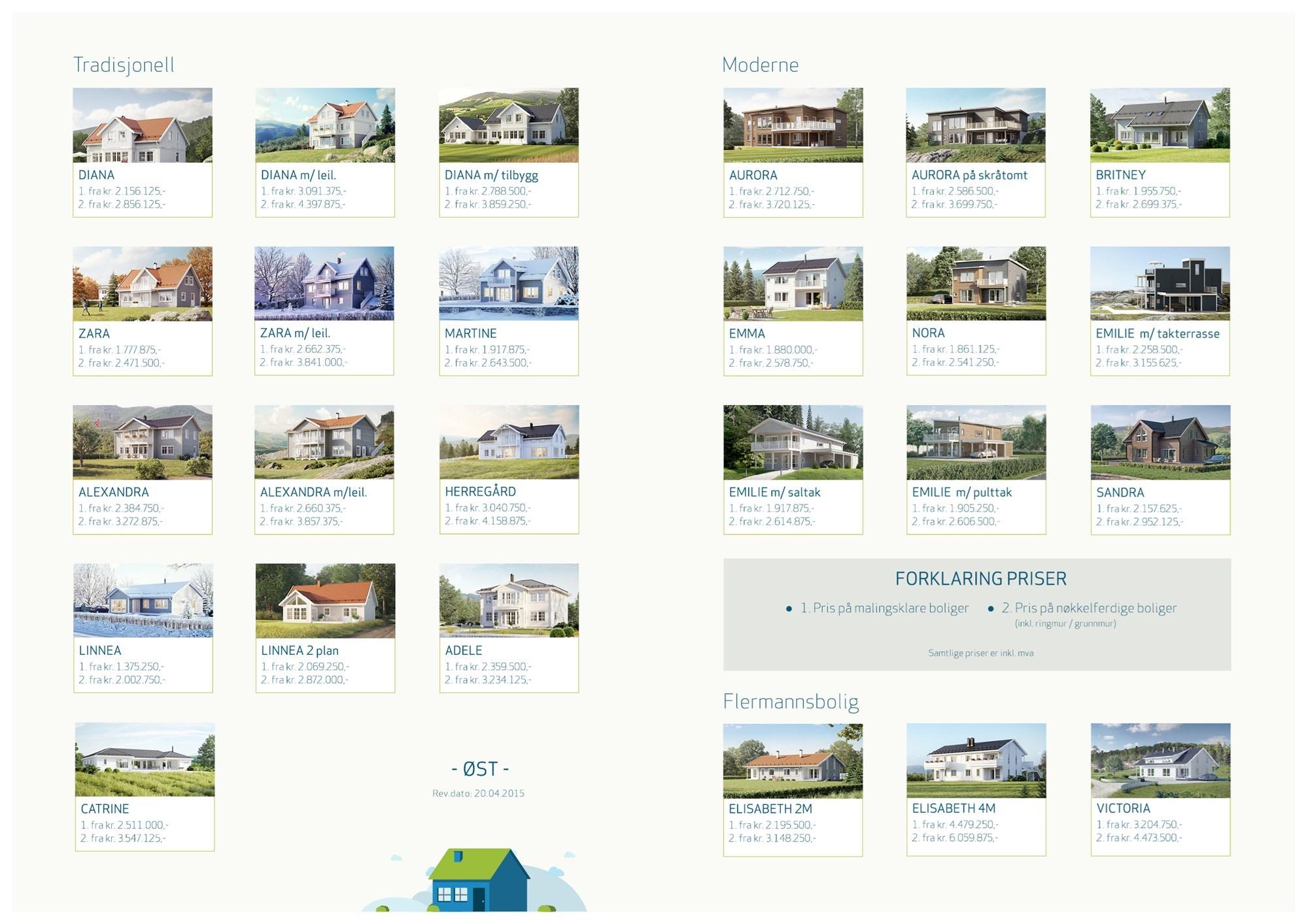 Fra mega Prislister på nøkkelferdige boliger fra IEC-HUS - ByggeBolig IO-85
