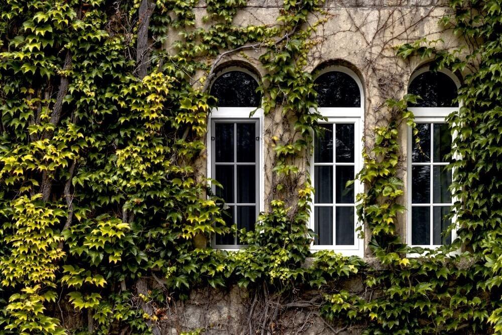 Bilde av PVC-vinduer i eldre murhus