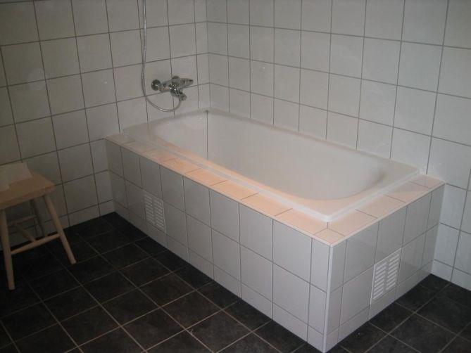 innfliset badekar Bygge inn badekar.   ByggeBolig innfliset badekar