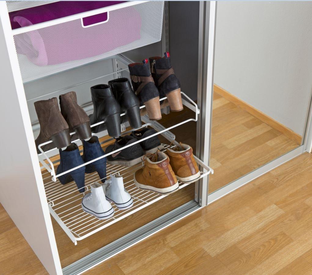 Modish Hylleløsninger for oppbevaring av (mange) sko? - ByggeBolig DY-04
