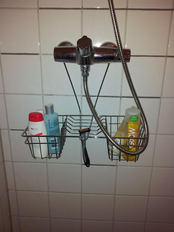 Glimrende Lage dusjhylle/oppbevaring på fliset vegg i dusj. - ByggeBolig JS-54