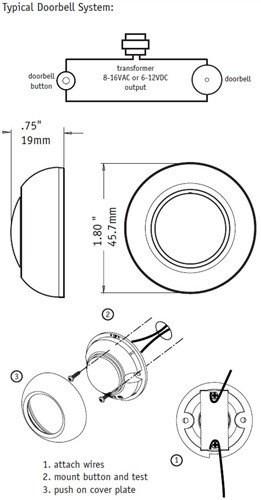 Groovy SPORE True ringeklokke med Friedland E3538SN - ByggeBolig QA35
