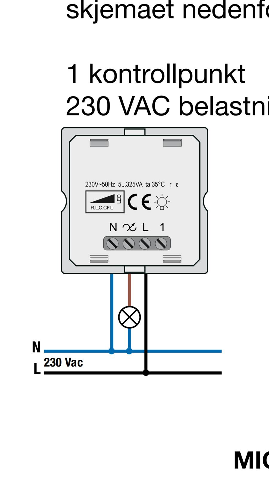 Hvordan montere dimmer til LED lampe ByggeBolig