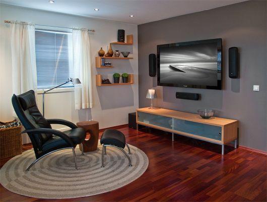 Tv på veggen høyde