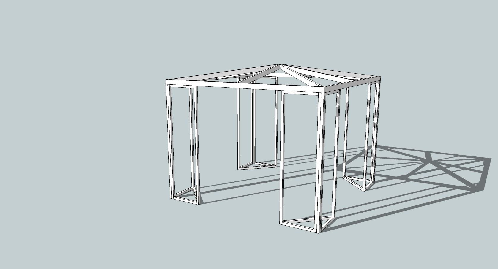 Moderne Bygge hagepaviljong - ByggeBolig AN-91